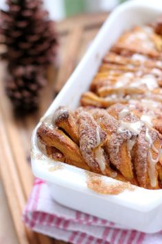 Pumpkin Spice Pull-Apart Bread with Butter Rum Glaze