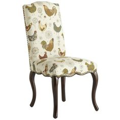 Claudine Rooster Dining Chair - this is the cutest chair.  The back is in a coordinating fabric.  Pier One