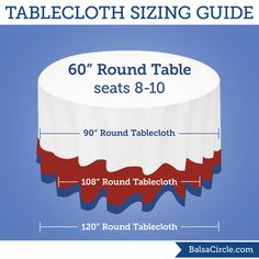 132 Round Tablecloth Fits What Size Table