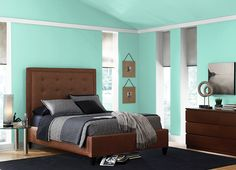 This is the project I created on Behr.com. I used these colours: AQUA WISH(P430-2),