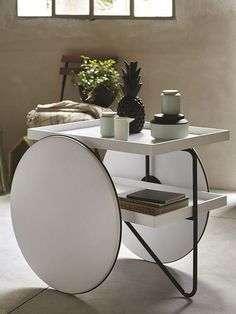 Side table with casters - Casamania