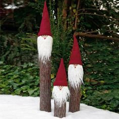 Gnomes for Christmas. Textile toys or decor for the holiday Christmas Gnome, Outdoor Christmas, Rustic Christmas, Christmas Art, Christmas Projects, Winter Christmas, All Things Christmas, Christmas Ornaments, Christmas Cookies