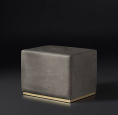 Rex Leather Ottoman