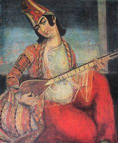 Young_man_playing_the_saaz_(Qajar_art,_Art_Museum_of_Georgia).jpg (1950×2374)