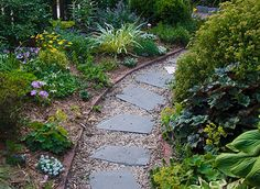 gravel and flagstone path