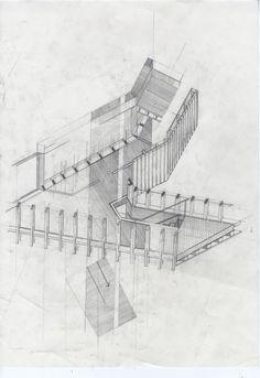 Construction Drawing, part of the series Alex Anderson 2008 Paper Architecture, Architecture Graphics, Classic Architecture, Architecture Drawings, Construction Drawings, Construction Cost, Drawing Competition, Bond, Diagram Design