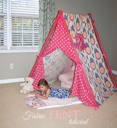 DIY tent, A-frame tent tutorial very comprehensive! Baby Sewing Projects, Sewing For Kids, Diy Craft Projects, Craft Tutorials, Diy For Kids, Crafts For Kids, Europa Camping, Camping Info, Camping Gear