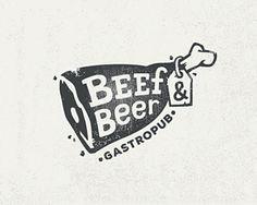 Beef & Beer by Roman Babin #logo #design #ideas #inspiration #JablonskiMarketing