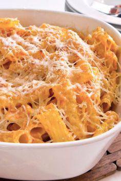 Taste of Fall: Pumpkin Parmesan Pasta Bake