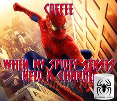 Spider Man coffee!