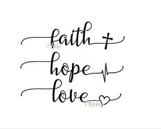Faith Hope Love svg CUT file for silhouette cameo cricut
