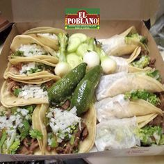 Start your week with some delicious tacos! #ElPoblano #MexicanRestaurant #tacos #whitePlains