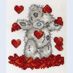 Shower of Hearts - Tatty Teddy - Me to You - counted cross stitch kit Coats Crafts