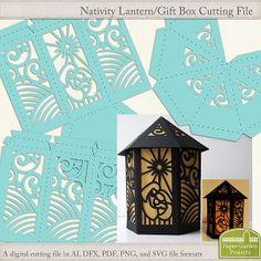 Lantern Digital Cutting File - Nativity - Paper Garden Projects