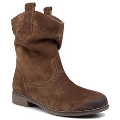 Botine LASOCKI – TTT-SINI-01 Brown Browning, Chelsea Boots, Shoes, Interior, Products, Fashion, Natural Leather, Grey Hair, Tejidos