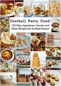 Football Party Food! [185 Dips, Appetizers, Sweets and Other Recipes for Football Season]