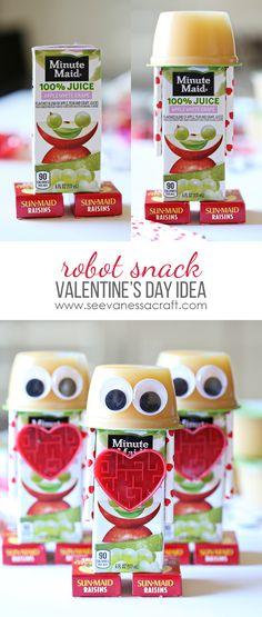 Craft: Robot Valentine\'s Day Snack