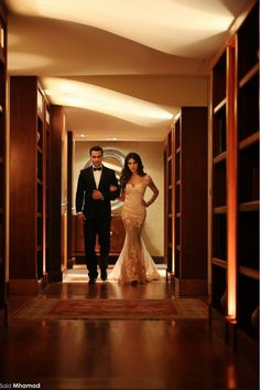 Leaving for a glamorous night together.