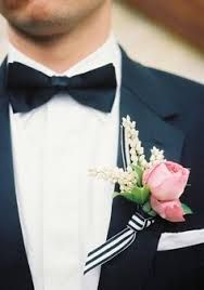 bow tie and buttonierre garden rose - Google Search