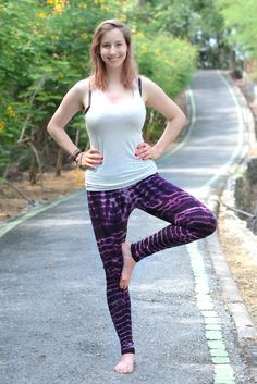 06db009ae2c Purple Stripes Tie dye Leggings made with cotton rayon blend. Super comfy  and great for