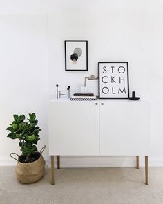 15 IKEA Besta hack with legs and little knobs to fit a Scandinavian interior - Shelterness Ikea Sideboard Hack, Sideboard Cabinet, Hallway Sideboard, Sideboard Ideas, Retro Furniture, Ikea Furniture, Urban Furniture, Furniture Ideas, Sideboard Furniture