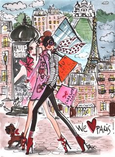 Paris #illustration #paris #fashion Izak Zenou