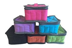 Essential Oil 16 Bottle Padded Zipper Travel Case with White Bottle Labels