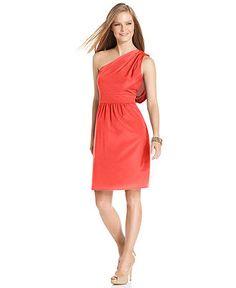 Vince Camuto Dress, Sleeveless One-Shoulder Draped - Womens Dresses - Macy's - like the style