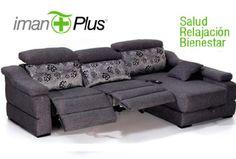 Sofa Imanplus dos relax con chaise longue derecha. Sofas terapéuticos.