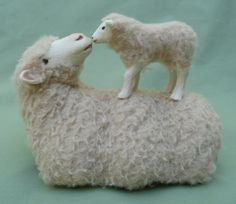 Merino Lying with Lamb by Colinscreatures on Etsy, $75.00