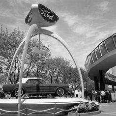 I NY. World's Fair display for the public's first look at the all-new Mustang 2012 Mustang, New Mustang, Mustang Cobra, Car Ford, Ford Gt, Ford Mustang History, 1967 Mustang Convertible, Volkswagen, Vintage Mustang