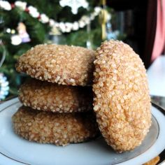 """I think I'll declare that it's """"eggnog week"""" at my house. Last week I baked eggnog cake but forgot to add the nutmeg so this weekend I baked another eggnog cake with nutmeg and also made a batch of..."""