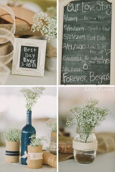 DIY Wedding Centerpiece / Mason Jars www.katielambphotography.com