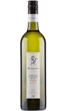 Optimiste Semillon Sauvignon Blanc 2015 Mudgee - 12 Bottles Green Curry, Tropical Fruits, Sauvignon Blanc, Whiskey Bottle, Bottles, White Wines, Fragrance, Glass, Optimism