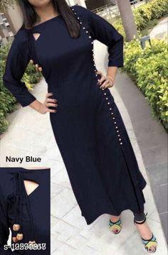 Kurtis & Kurtas Women'S Solid Rayon Kurti Fabric: Rayon Sleeve Length: Three-Quarter Sleeves Pattern: Self-Design Combo of: Single Sizes: S (Bust Size: 37 in, Size Length: 44 in)  XL (Bust Size: 43 in, Size Length: 44 in)  L (Bust Size: 41 in, Size Length: 44 in)  M (Bust Size: 39 in, Size Length: 44 in)  XXL (Bust Size: 45 in, Size Length: 44 in)  XXXL (Bust Size: 47 in, Size Length: 44 in)  Country of Origin: India Sizes Available: S, M, L, XL, XXL, XXXL   Catalog Rating: ★4 (438)  Catalog Name: Chitrarekha Fashionable Kurtis CatalogID_2433686 C74-SC1001 Code: 203-12590817-507