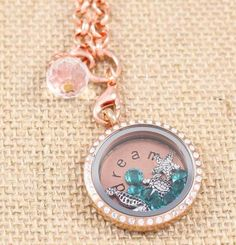 Beautiful Blue birthstones to add accents to this South Hill Designs locket.  www.southhilldesigns.com/justforyou