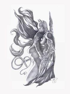 Original Comic Art titled Batman vs Catwoman, located in Gene's All the latest SOLD art! Batman Vs Catwoman, Batman Vs Superman, Batman Art, Spiderman, Comic Books Art, Comic Art, Batman Universe, Dc Universe, You Draw