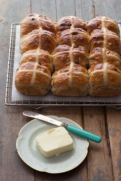 honey cardamom hot cross buns by British food blogger and cookbook author, April Carter
