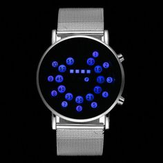 Frugal Cool Digital Watch Men Led Fashion Watches Luxury Mesh Binary Watches Male Digital Hour Clock Montre Homme Masculino Relojes High Quality Materials Digital Watches
