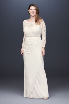 Wedding Dress Trends from Spring 2019 Bridal,Wedding dresses that fit your style and budget! Plus Wedding Dresses, White Bridal Dresses, Davids Bridal Dresses, Wedding Dress Trends, Little White Dresses, Bridal Gowns, Wedding Ideas, Gown Wedding, Plus Size Gowns