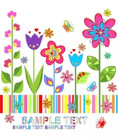 de flores de fondo vector de colorido | Descargar Vectores gratis