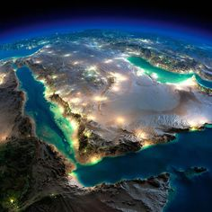 Magnificent NASA pictures of Earth from space (with post-prod work from Anton Balazh) Somalie Mer rouge, Arabie Saoudite Earth And Space, Beautiful World, Beautiful Places, Beautiful Pictures, Beautiful Beautiful, Mother Earth, Mother Nature, Photos Du, Cool Photos