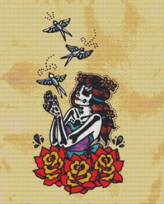Day of the Dead cross stitch