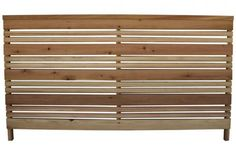 the Three-foot Redwood Flat Top Fence Panel; $50 per six-foot section at Lowe's.
