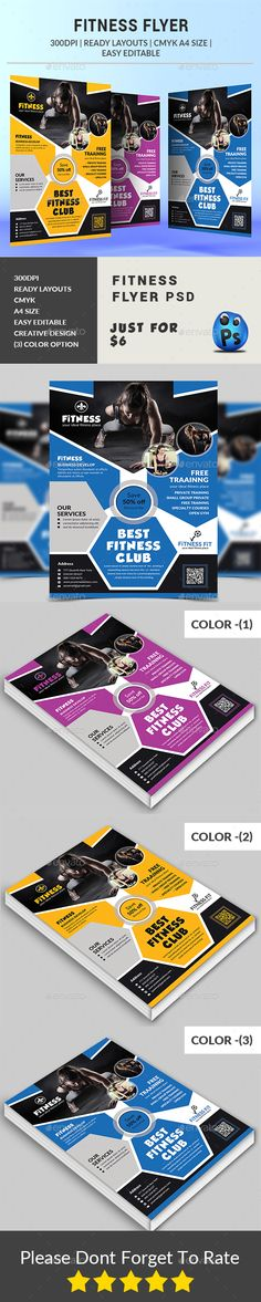 Fitness Flyer by afjamaal Fitness Flyer.Thisflyeris made in photoshop the files included are help file and photoshop psds. All psds are very well organized