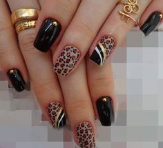 Resultado de imagen para gold and beige toenails Acrylic Nail Designs, Black Nail Designs, Fancy Nails, Pretty Nails, Fabulous Nails, Gorgeous Nails, Nail Art Dessin, Nagellack Design, Leopard Print Nails