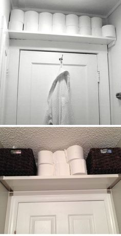 Shelf Above Door for Tissue Paper | Easy Storage Ideas for Small Spaces | DIY…