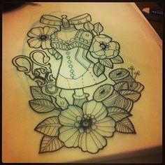 Resultado de imagem para dress sketch tattoo tumblr