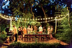 outdoor dinner party magic