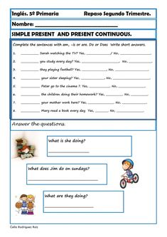 Fichas inglés cuarto primaria. Niños de 9-10 años Continuamos el ...